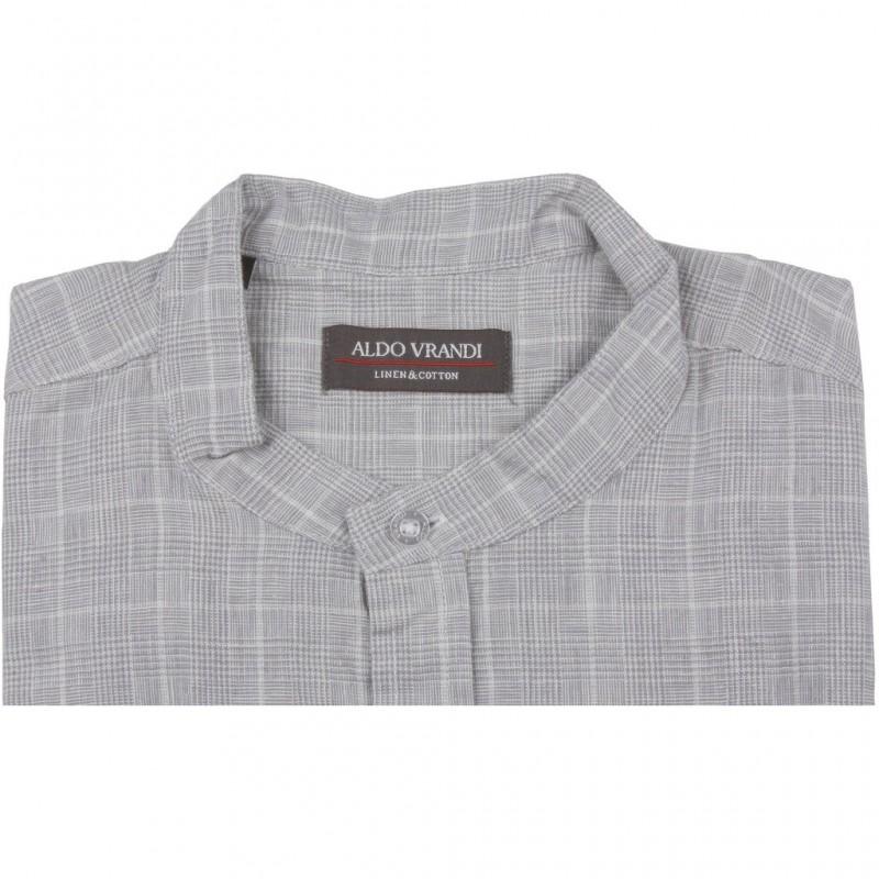 Lniana koszula męska z krótkim rękawem Aldo Vrandi Rozmiar L