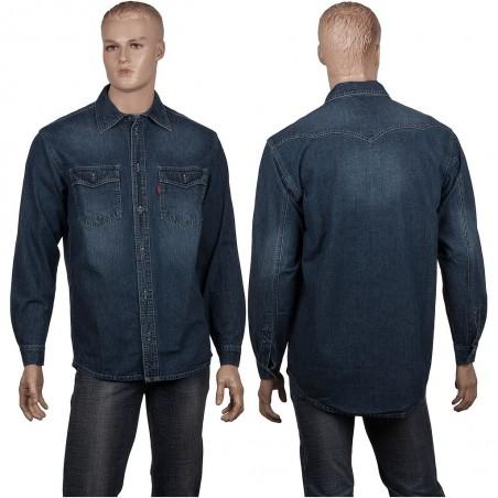 Grafitowa koszula jeansowa Stanley