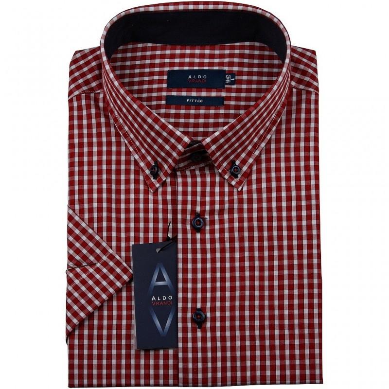 Koszula męska Aldo Vrandi z krótkim rękawem Rozmiar 2XL