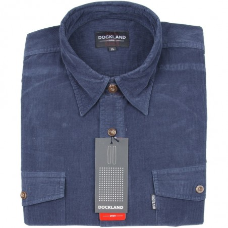 Koszula sztruksowa Dockland w kolorze niebieskim