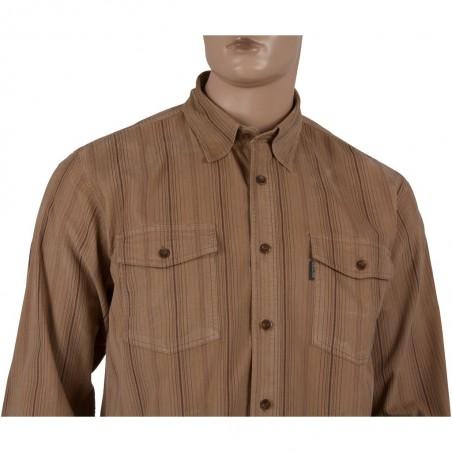 Koszula sztruksowa Dockland w kolorze beżowym w paski