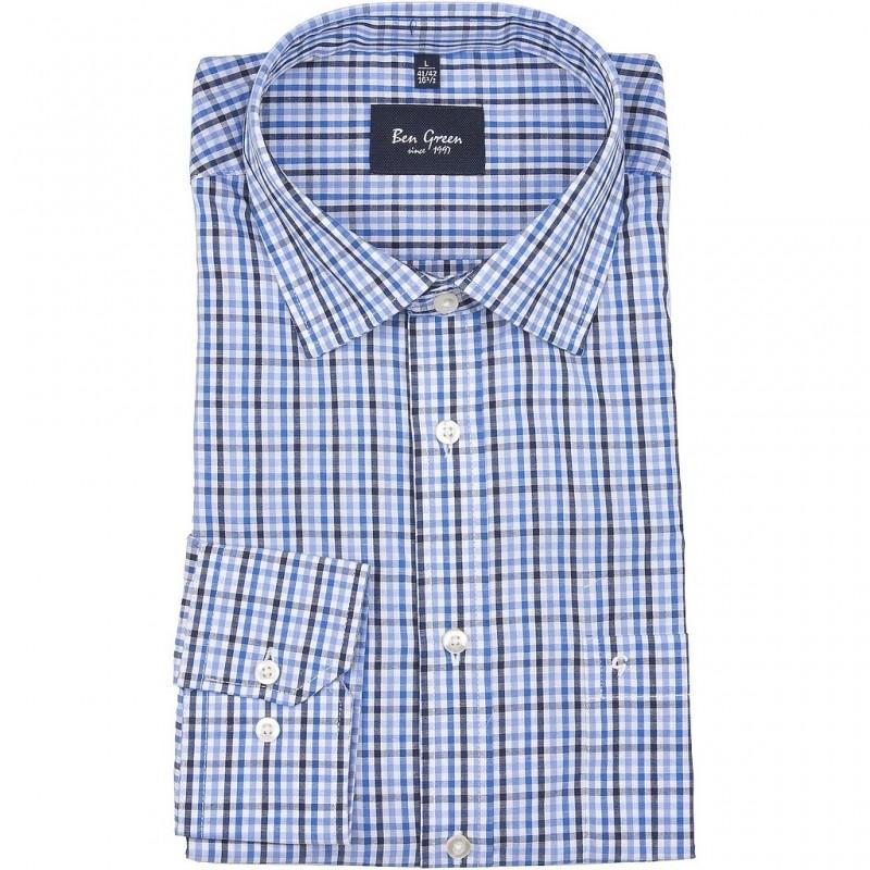 Koszula bawełniana Ben Green z długim rękawem Rozmiar M